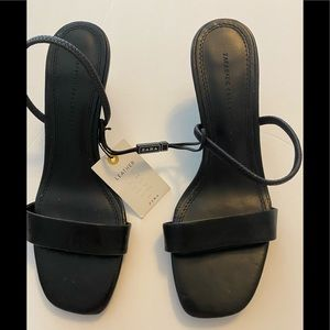 NEW Zara black leather heels